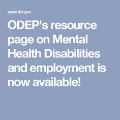 ODEP's resource page