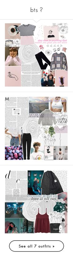 """""""bts ♡"""" by randomn3ss ❤ liked on Polyvore featuring Hermès, GUESS, STELLA McCARTNEY, Topshop, Vanessa Bruno Athé, bobts, Margaret Howell, Monki, Chanel and Superdry"""