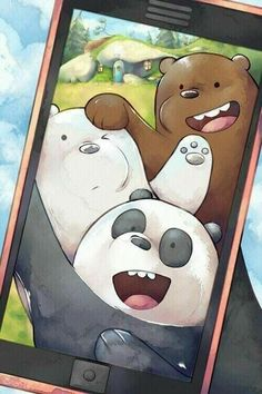 Pardo,panda y polar ❤ Cute Panda Wallpaper, Cartoon Wallpaper Iphone, Bear Wallpaper, Cute Disney Wallpaper, Kawaii Wallpaper, Cute Wallpaper Backgrounds, Galaxy Wallpaper, We Bare Bears Wallpapers, Panda Wallpapers