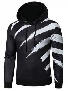 Cute Animal Pattern Outer Jacket with Kanga Pocket Mens Long Sleeve Sweatshirt Hoodie