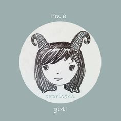 Capricorn girl Art Print