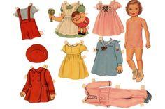 paper dolls vintage - Buscar con Google