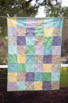 Simple soft baby quilt by @Meredith Dlatt from Olivia Jane Handcrafted for her baby boy using Michael Miller Fabrics Sherpa and quilted with #Aurifil 28wt.  To read more please visit http://oliviajanehandcrafted.com/blog/?p=4449