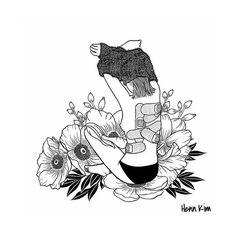 I'm not mad, I'm hurt Art Print by Henn Kim - X-Small Art Sketches, Art Drawings, Pen Sketch, Henn Kim, Art Du Croquis, Im Hurt, Desenho Tattoo, Art Et Illustration, Black And White Illustration