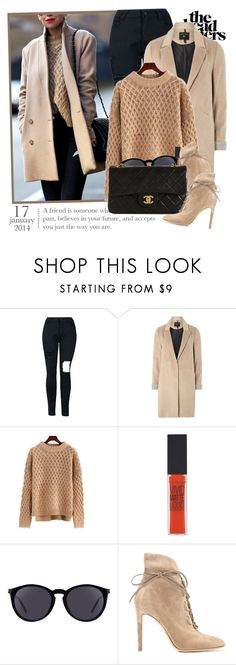 """""""2421. Blogger Style: Brooklyn Blonde"""" by chocolatepumma ❤ liked on Polyvore featuring mel, Maybelline, Yves Saint Laurent, Gianvito Rossi and Chanel"""