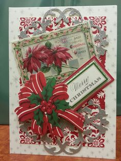 Card made with Anna Griffin kit from HSN