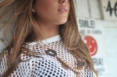 "NicSal Jewles ""St. Fatima Necklace"" featured in the D Stylesheet's 2012 Vintage Swimwear shoot"