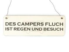 CAMPERS FLUCH Camping Vintage Schild Holz Shabby von Interluxe via dawanda.com