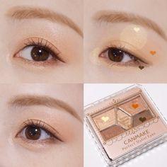 Kawaii Makeup, Cute Makeup, Makeup Looks, Korean Makeup Brands, Korean Makeup Tutorials, Monolid Makeup, Asian Eye Makeup, Makeup Inspo, Makeup Tips