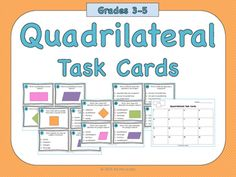 Students practice identifying quadrilaterals in these task cards.----------------------------------------------------------------------------------------------Includes:-16 task cards-Recording sheet-Answer key----------------------------------------------------------------------------------------------THIS FREEBIE IS A SAMPLE OF A LARGER BUNDLE!If you like what you see, click HERE to purchase the bundle!Includes:- Student note page-Quadrilateral classification activity- practice worksheet…