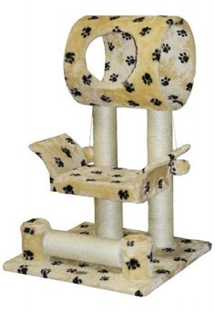 Go Pet Club Paw Print 28 in. Cat Tree Condo * Additional details at the pin image, click it  : Cat Tree