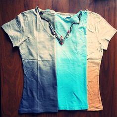 Tie & dye tees , shourouk necklace