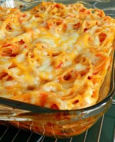 Easy Baked Spaghetti. Cool website.. Select the ingredients you have already and it provides various recipes to choose from