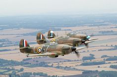 While the Spitfire was the schoolboy favourite, the Hurricane, pictured, was more influential during the Battle of Britain