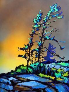 Landscape Quilts, Abstract Landscape, Landscape Paintings, Landscapes, Jungle Art, Canadian Painters, Boat Painting, 3d Wall Art, Pastel Art