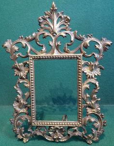 Very Ornate Self Standing Brass Antique Photo / Picture Frame - Made by Beatrice