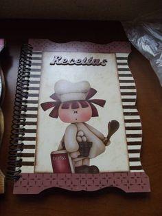 Cadernos de Receitas | Verônica ArtesanArte | Elo7