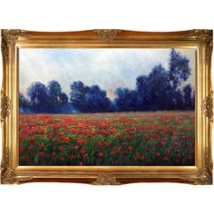 Poppies at Giverny by Claude Monet Framed Painting Print
