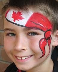 10 Top Face Painting Services In Toronto Face Painting For Boys, Face Painting Designs, Body Painting, Dominion Day, Canada Day Crafts, Canada Birthday, Canada Day Party, Homemade Face Paints, Kids Makeup