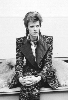 David Bowieposing for a portrait shot at RCA Studios, New York, 1973