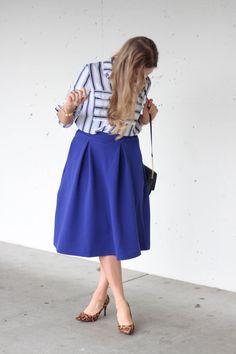 mid length skirt - modest fashion
