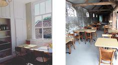 In Amsterdam Oost, in het Science Park, stond al tijden een grote half ronde loods waar café-restaurant Polder in huisde. Die loods, die was helemaal prima en gezellig maar eigenlijk, éigenlijk was het slechts ter overbrugging tot Polder 'hun' prachtige boerderij kon betrekken, de Anna Hoeve. En het is zo ver hoor! De verbouwing is klaar en hetis prachtig geworden: een moderne 'dikke' gele comunity-tafel tussenbistrostoeltjes en eenvoudige houten tafels, grove houten stal-pilaren en een…