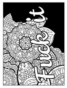 Coloring Pages To Print Free Printable Sheets Books Swearing Book Swear Word