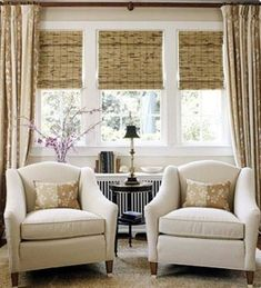 Small corner couch to crash sit in the sunroom other half can be a play space home decor for Bamboo shades in living room