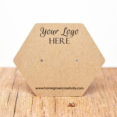 Customized Earring Cards with Your Logo and Hexagon Shape Card Use this listing to order any of our Hexagon Shaped cards customized with your Necklace Display, Earring Display, Jewellery Display, Karten Display, Ring Displays, Custom Earrings, Jewelry Tags, Earring Cards, Shaped Cards