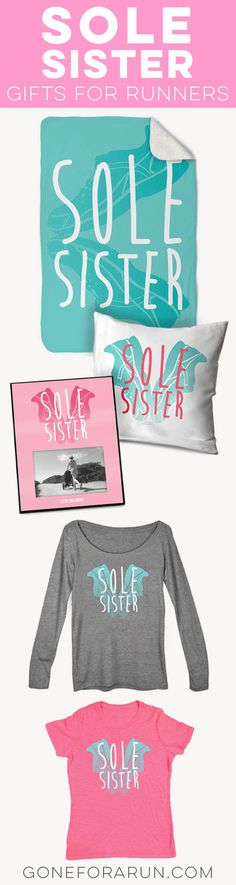 For a great running gift, celebrate the bond between sole sisters with these fun and inspired running gifts! Choose from cozy blankets, personalized frames, tops, hoodies and much, much more.