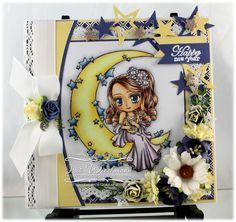 Moon Goddess [MRJ118] - $8.50 : Whimsy Stamps