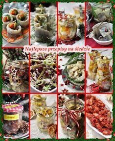 Najlepsze przepisy na śledzie. Wigilijne śledzie. Polish Christmas, Xmas Food, Polish Recipes, Pasta Salad, Sushi, Cabbage, Good Food, Food And Drink, Menu