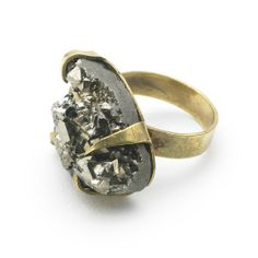 Peruvian pyrite ring