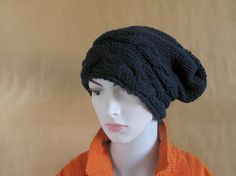 Chunky Slouchy Women Hat Beanie, Knit Beret, Oversized Hat, Wool Beret