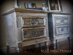 Foil finish furniture guide RedHenHome.blogspot.co.uk