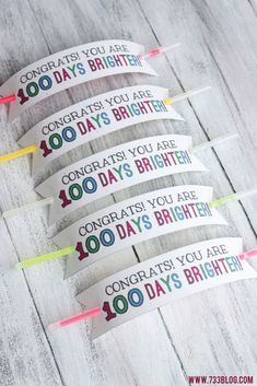 100 Days of School Glow Bracelet with Free Printable - seven thirty three