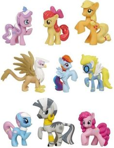 MLP My Little Pony Friendship Is Magic Exclusive Toy Figure Collection Set of 9 @ niftywarehouse.com