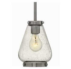 Brushed Nickel 1 Light Indoor Mini Pendant from the Finley Collection