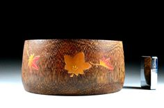Antique Tobacco Tray With Autumn Leaves Design In Makie - Japanese Gold Lacquer - For Collectors