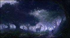 2 warriors, The Hunt by andreasrocha.deviantart.com