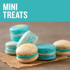 From mini cakes to macarons, these mini sweet treats are fun to eat!