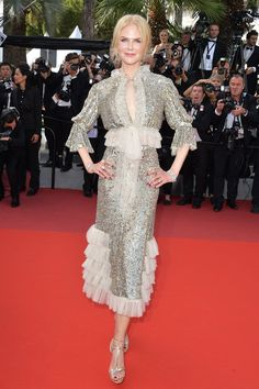 Nicole Kidman wore a Rodarte dress, teamed with Harry Winston jewellery. How to Talk to Girls at Parties premier - May 21 2017
