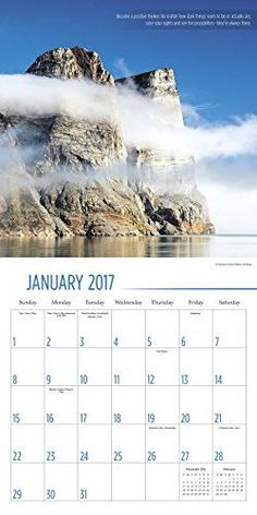 The Power of Positive Thinking Wall Calendar (2017)
