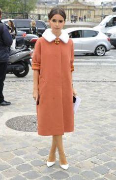 Miroslava Duma au défilé Louis Vuitton, le 3 octobre 2012.