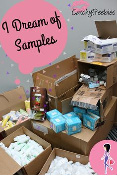 We're Dreaming of Samples at CatchyFreebies.com! Sign up to get brand-name samples and coupons delivered straight to your inbox! *Members Only Giveaways - Frugal Living Tips- Weekly Sample Boxes* Join now! #IDreamofSamples