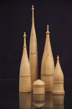 Tower Boxes, Boxwood, c.40mm dia. 2009
