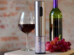 Love technology, or are just lazy? We get it, for both sides. This wine opener requires only the push of a button, showing your classy side as well as reducing the chances of W.O.C, Wine Opening Cramps. Yeah, we're that lazy as well.