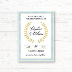 Greek Mediterranean Bridal Shower or Baby Shower Printable Invitation, Toga, Laurel Wreath, Gold, Bl Online Printing Companies, Printing Services, Whats In Your Purse, Printable Invitations, Dinner Invitations, Invite, Greek Wedding, Laurel Wreath, Wedding Announcements