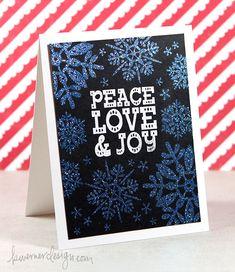 Holiday Card Series 2014 Day 7 + Wow Embossing Powder #kwernerdesign