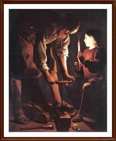 Georges De la Tour, Century chiaroscuro Joseph the Carpenter, Louvre. Baroque Painting, Baroque Art, Caravaggio, Louvre Museum, Museum Paris, C G Jung, Web Gallery, St Joseph, Art Database